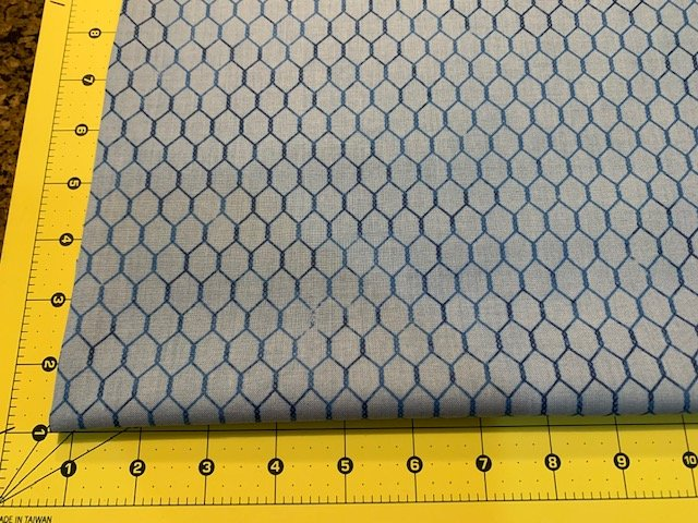 Bright and Early - Chicken Wire - Blue
