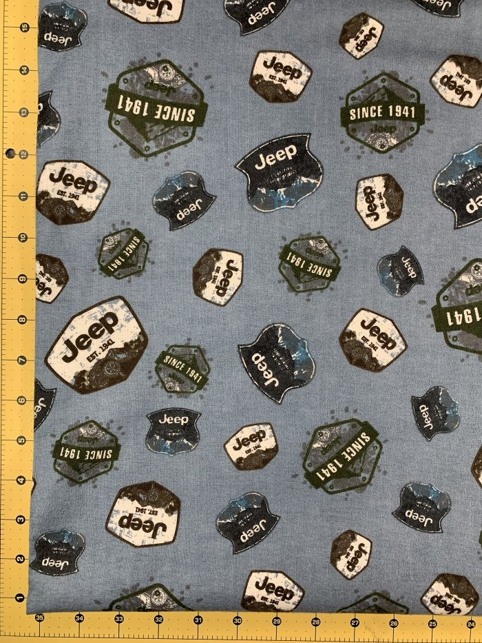 Flannel - JEEP Badges - Blue
