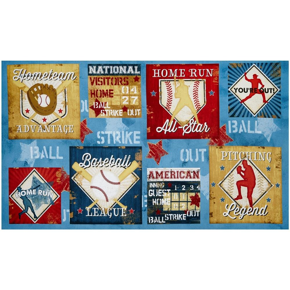 7th Inning Stretch - 24 x 44 Baseball Panel by Jennifer Pugh