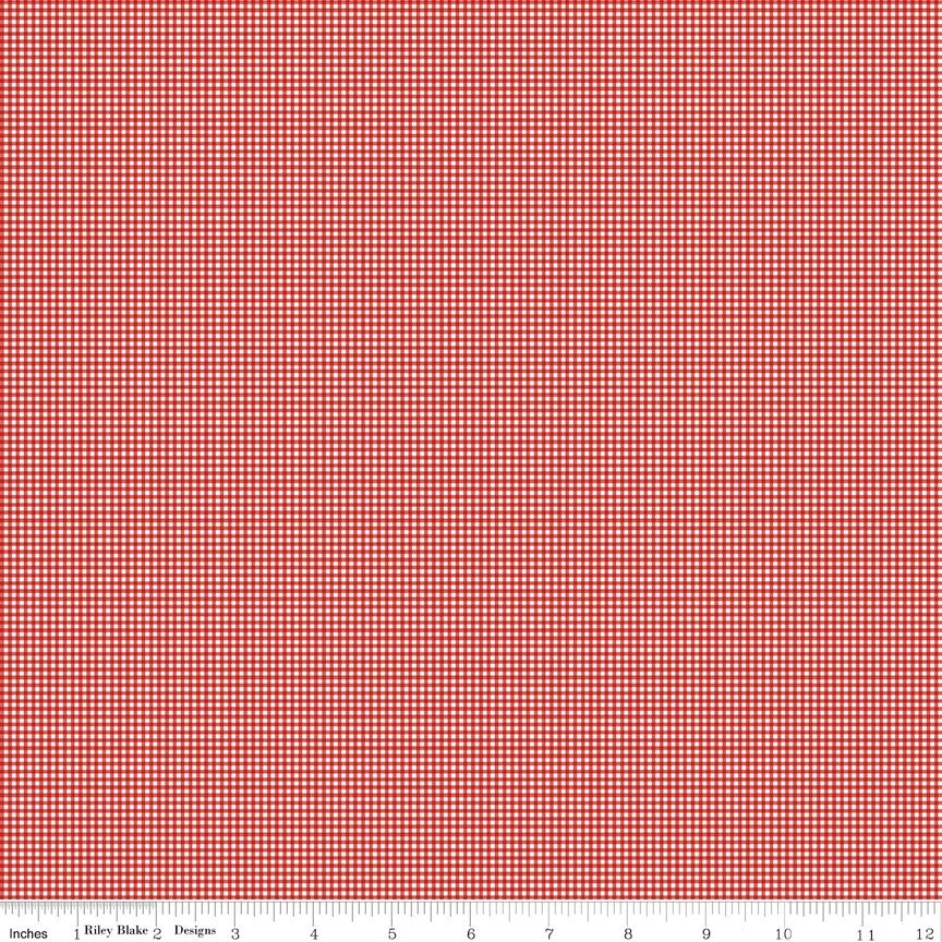 Love Letters - Riley Blake - Tiny Gingham - Red