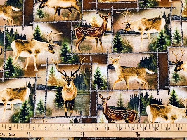 Lodge Life - Scenic Deer Patch - Brown