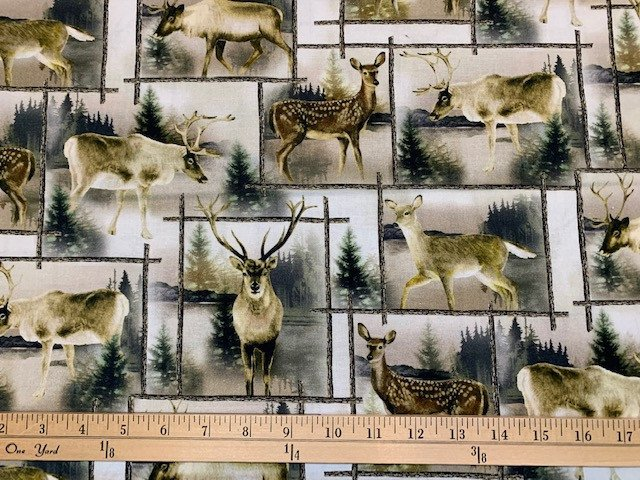 Lodge Life - Scenic Deer Patch - Natural