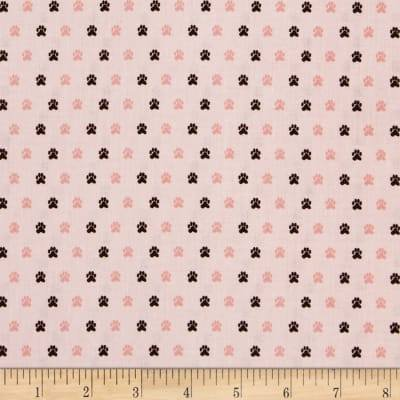 Meow and Forever - Tiny Paw Prints - Pink