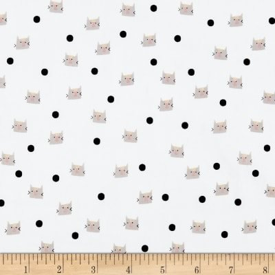Meow and Forever - Dots - White