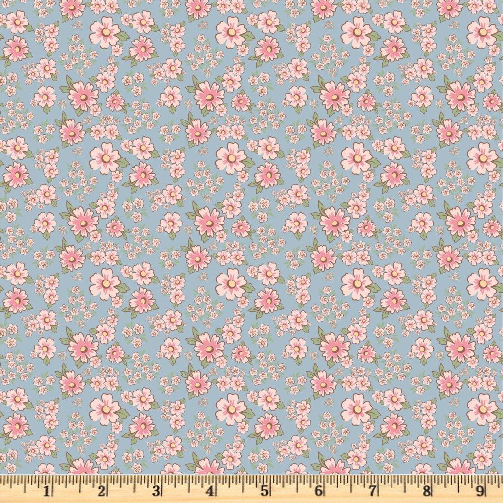 Dots & Posies - Mini Fleurs - Blue