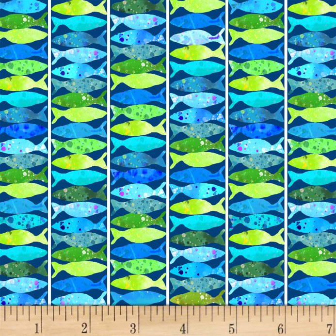 Ocean State - Blue Fish Stripe