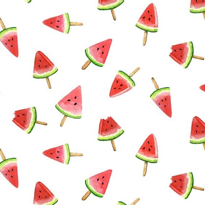 Picnic By The Lake - Watermelon Lollies -  White