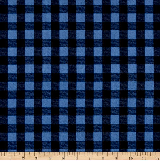 Cozy Critters - Buffalo Check - Blue and Black