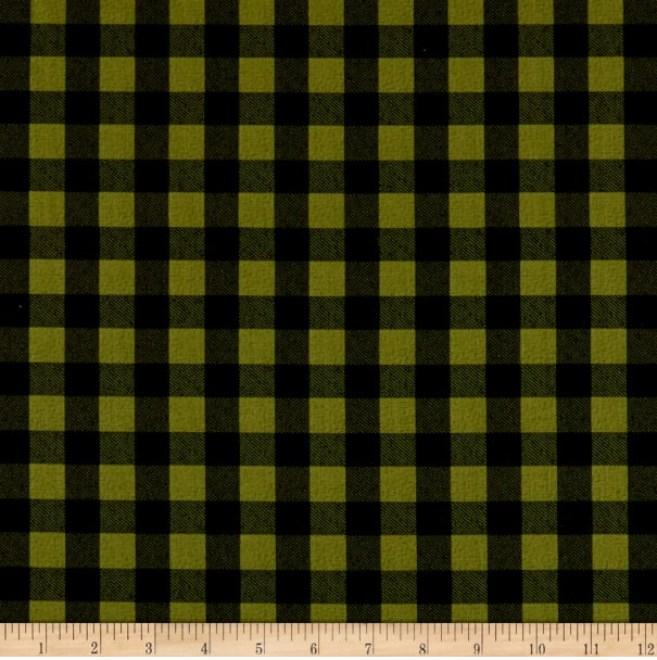 Cozy Critters - Buffalo Check - Green and Black
