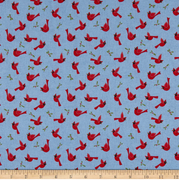 Cozy Critters - Cardinals on Blue