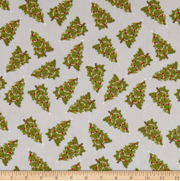 Cozy Critters - Trees - Allover - Grey