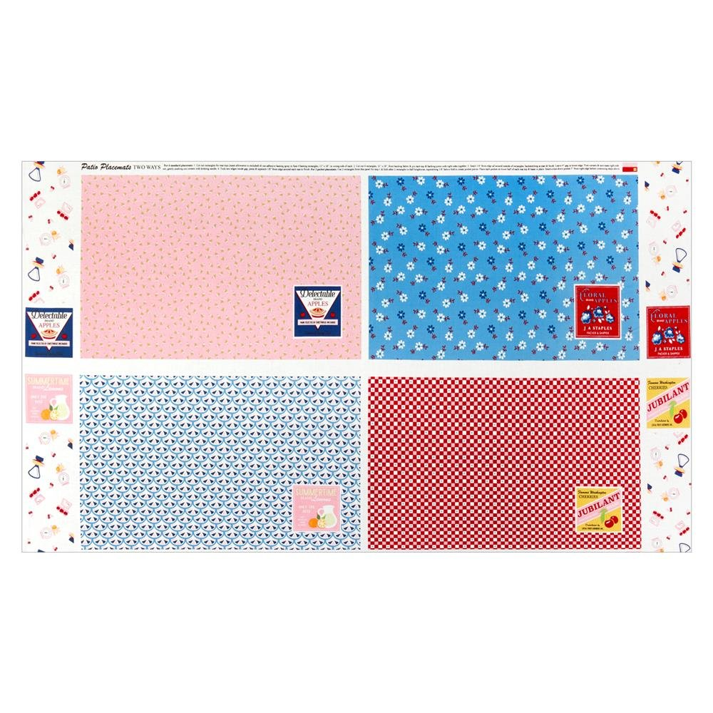 Shortcake - Placemat Panel - 24 inches - Pink