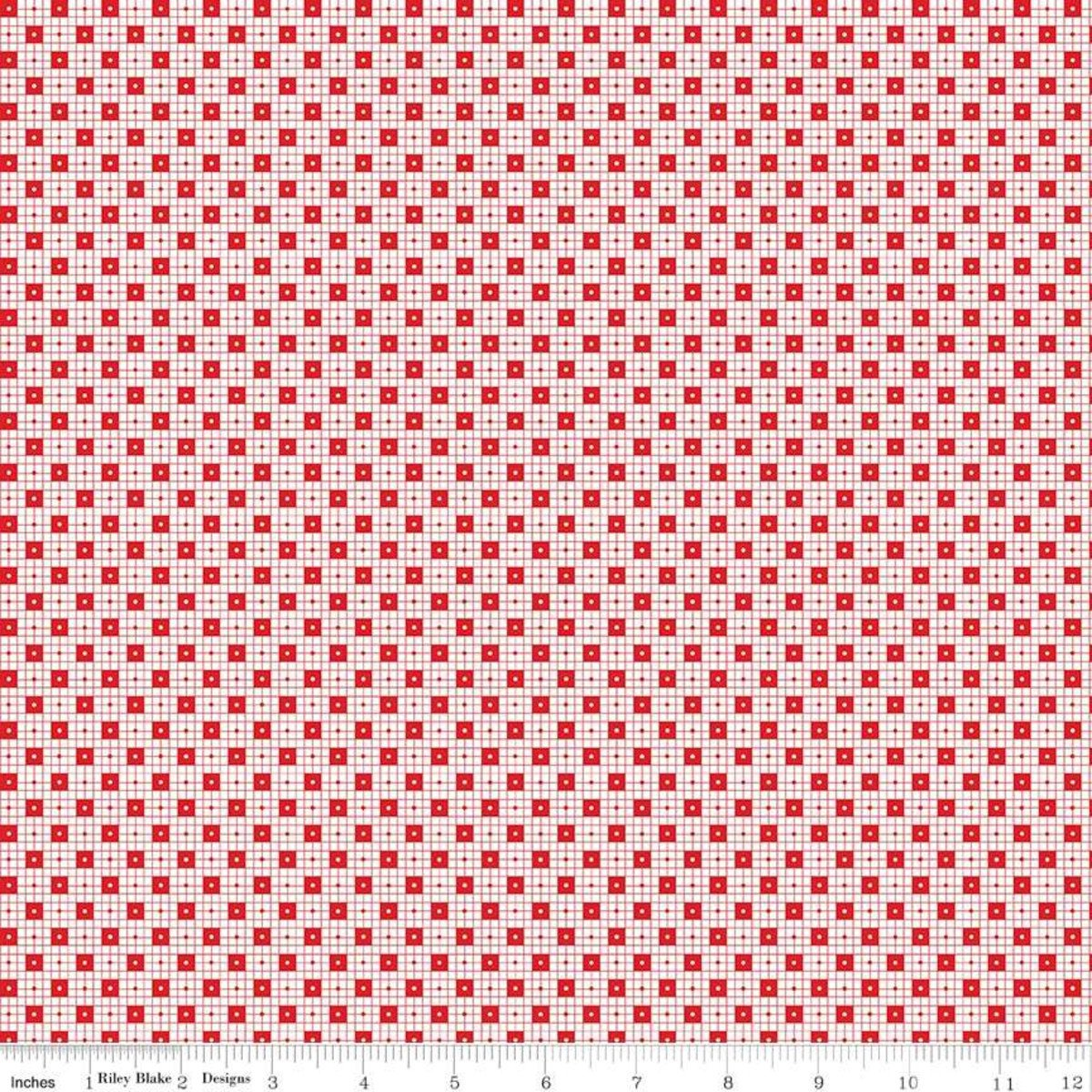 Simple Goodness - Checker Dots - Red