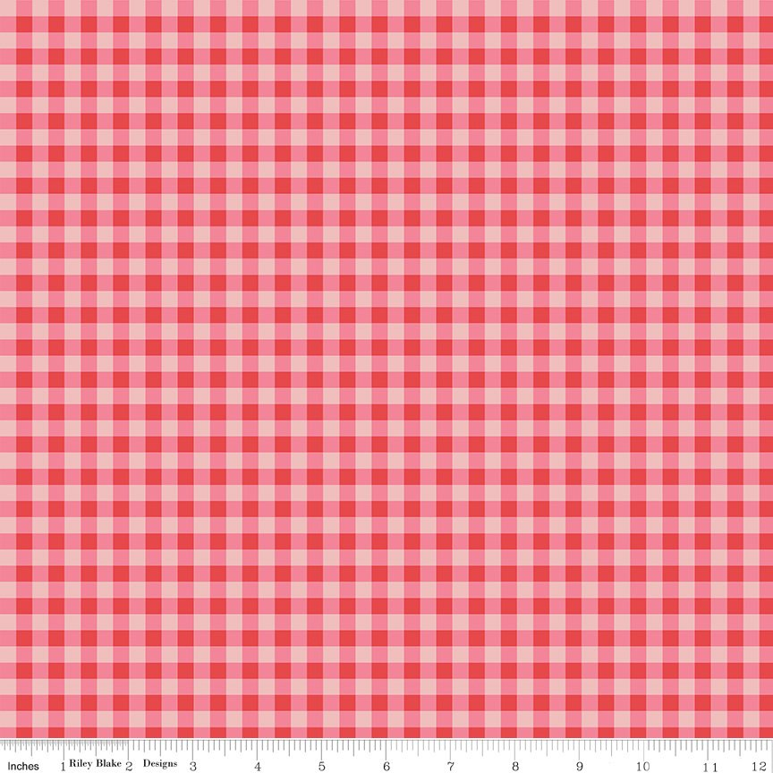 Strawberry Honey - Gingham - Red