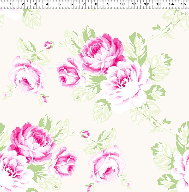 Sunshine - Full Bloom - Roses Cream