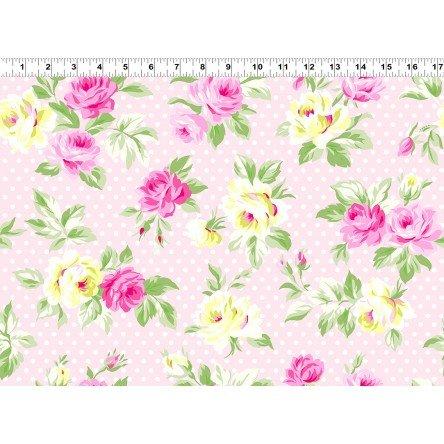 Sunshine - Polka Dot Roses - Pink