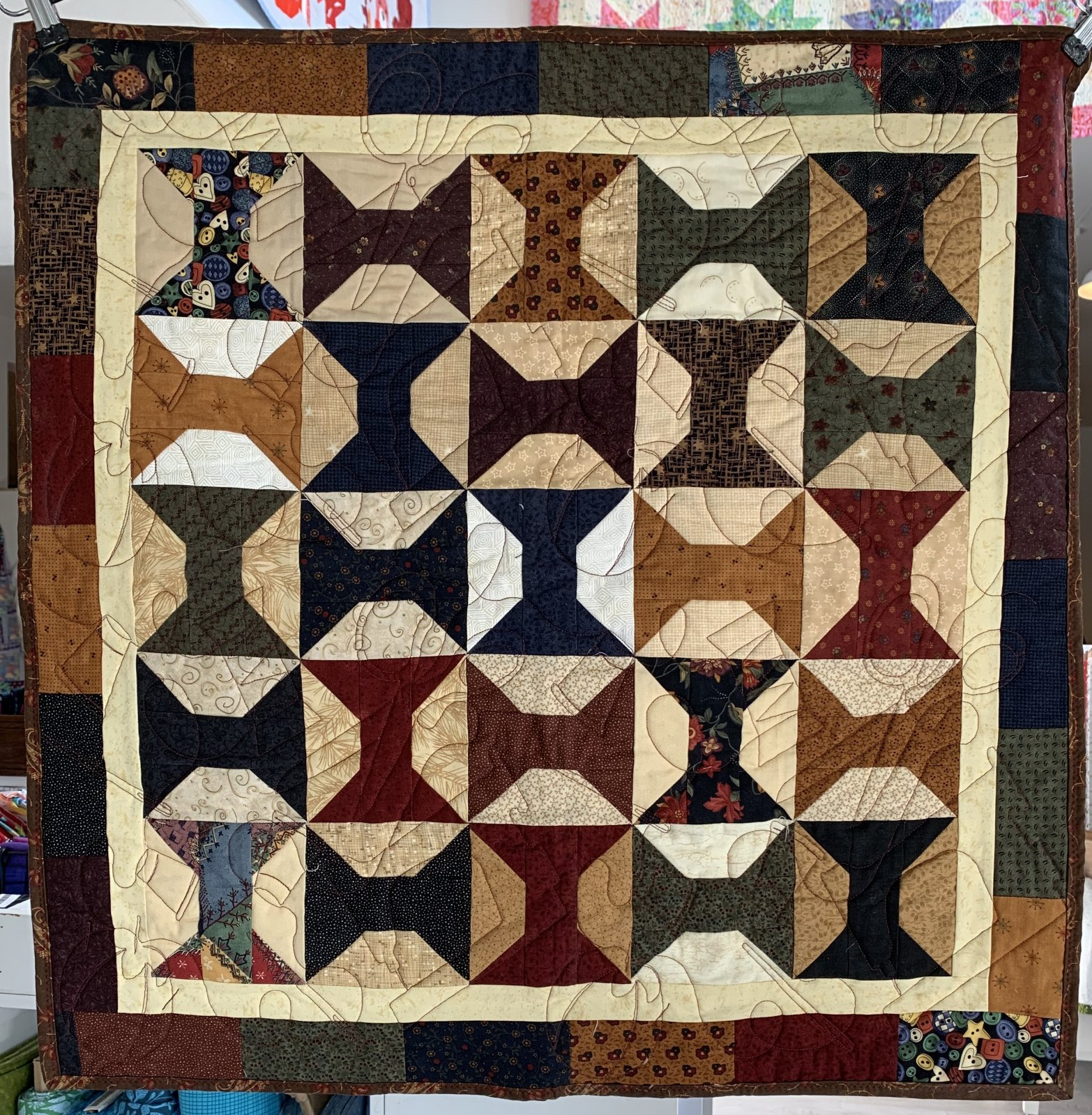 Antique Spools Wall Hanging Quilt