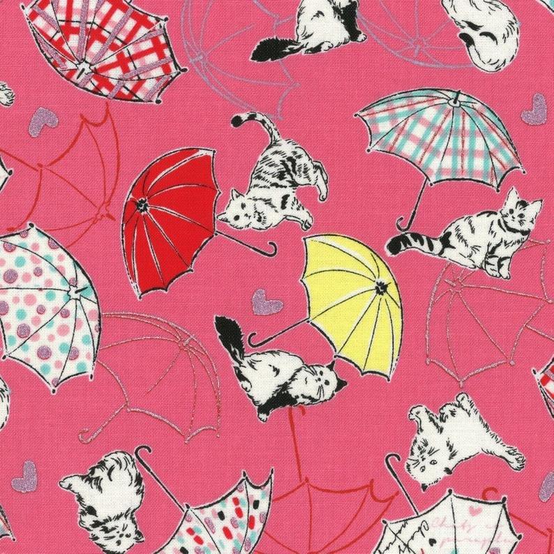 Radiant Girl - Cats/Umbrellas - Pink