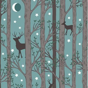 Nighttime in Bluebell Wood - Hiding - Blue