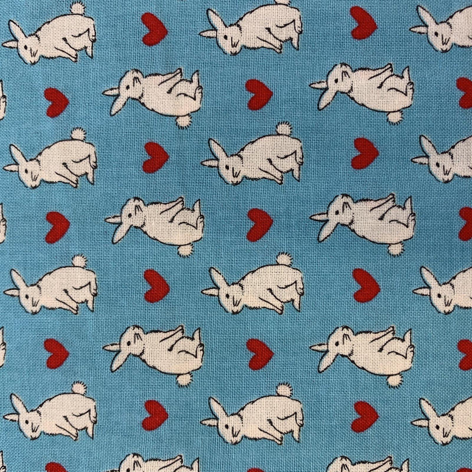 Radiant Girl - Hearts/Bunnies - Blue