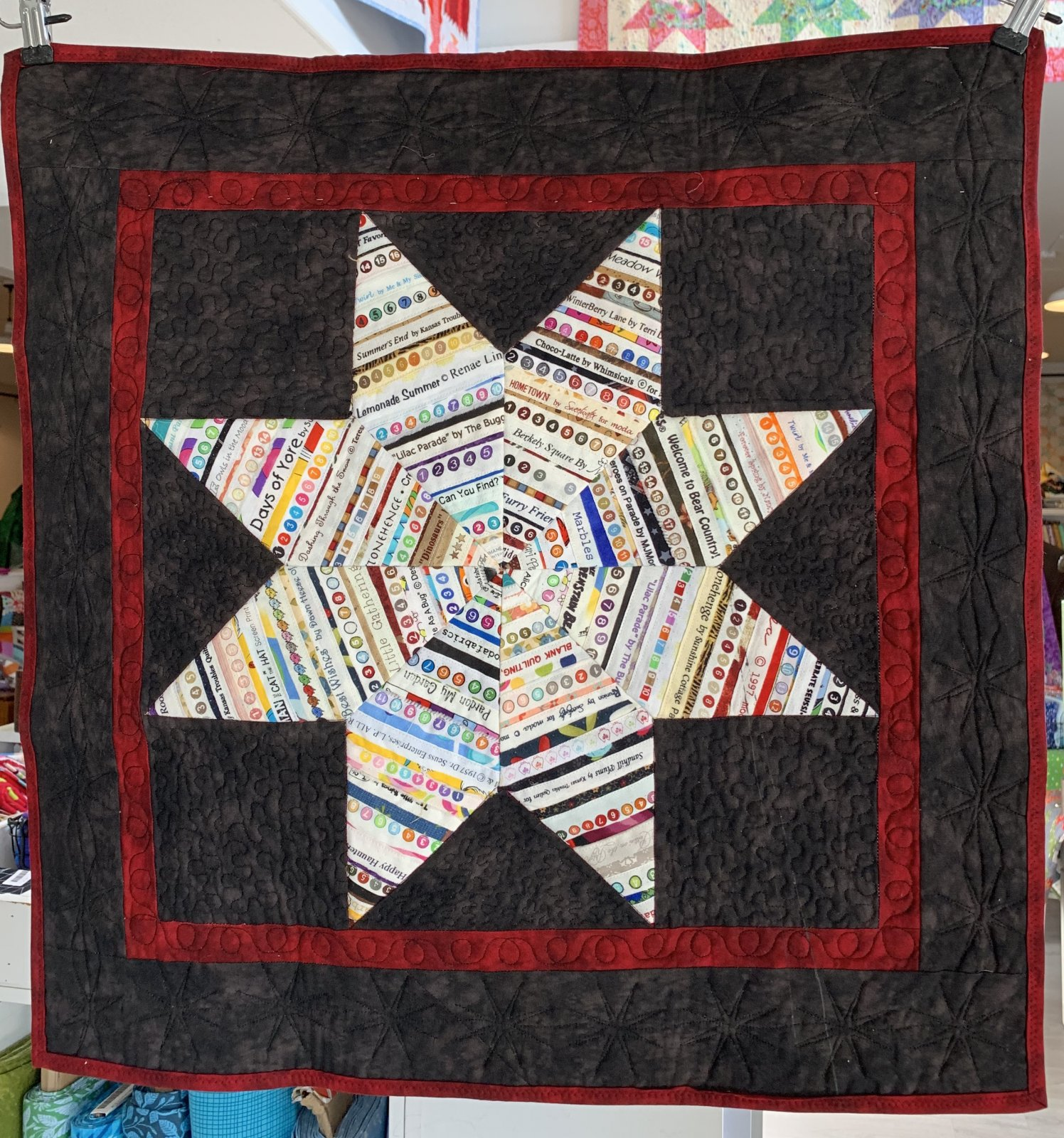 Selvage Star Wall Hanging Quilt