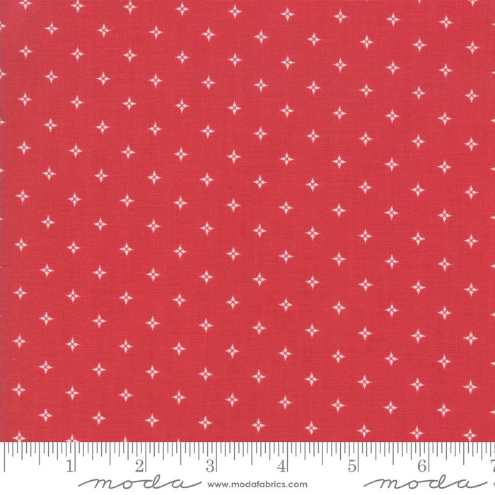 Country Christmas - Stars - Cardinal Red