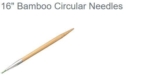 HiyaHiya Circular 16 Bamboo Knitting Needles US 0-15