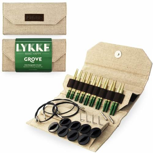 Lykke Grove Bamboo Interchangeable Circular Knitting Needle Set US 3 - 10, 5