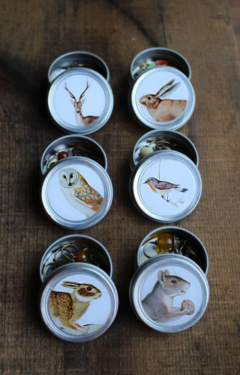 Forest Friends Mini Tins w/ Stitch Markers