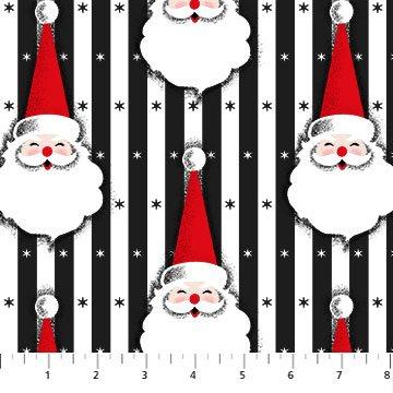Christmas Magic - Santa Heads - Black