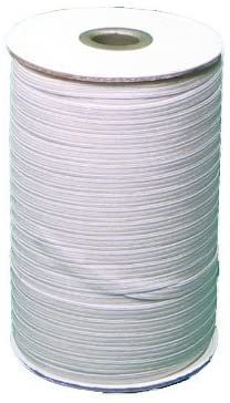 Elastic - 1/8 - White - by the metre.