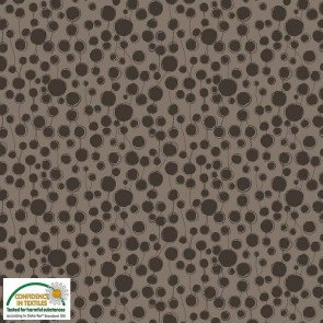 Quilters Combination - Circles - Brown