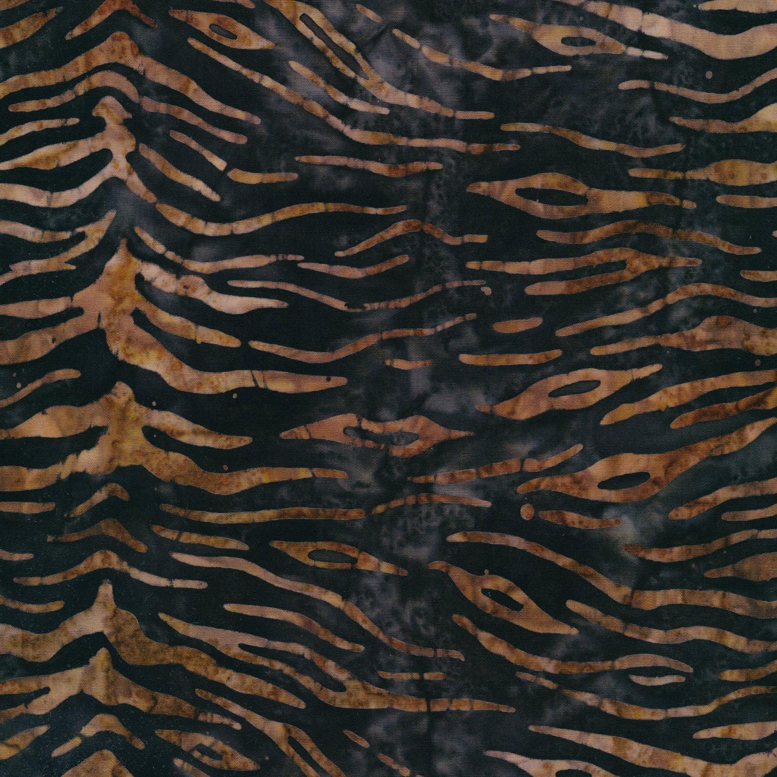 Serengeti Batiks - Zebra - Mocha/Onyx