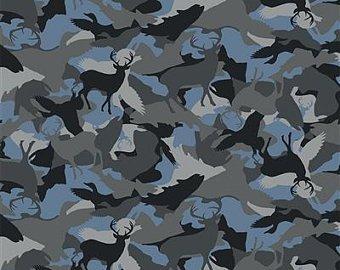 Wild Life Flannel - Animal Camo - Pewter