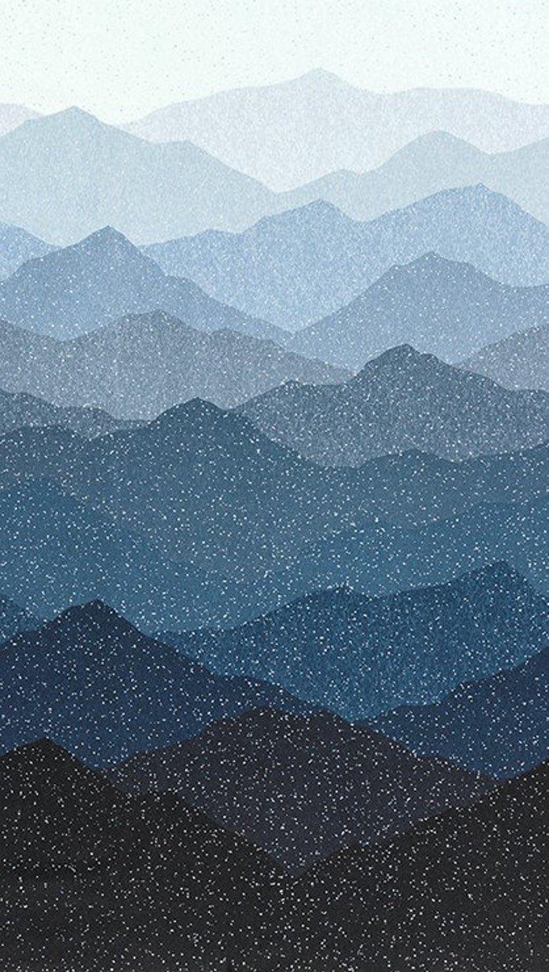 First Snow Metallic - Mountains - Nightfall