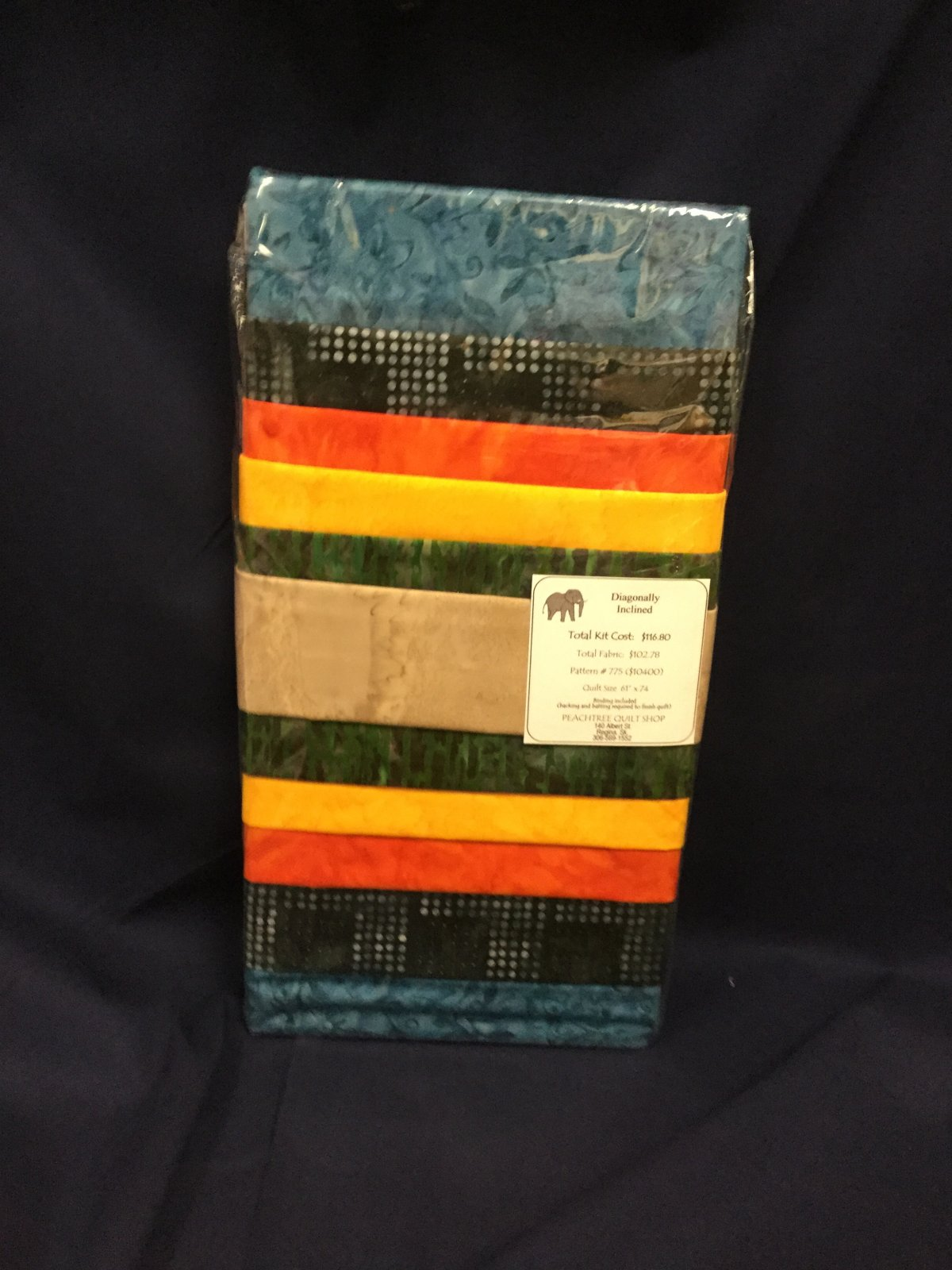 Diagonally Inclined Quilt Kit