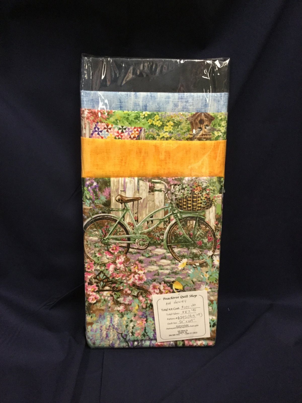 Oh Henry Quilt Kit - Bicycles