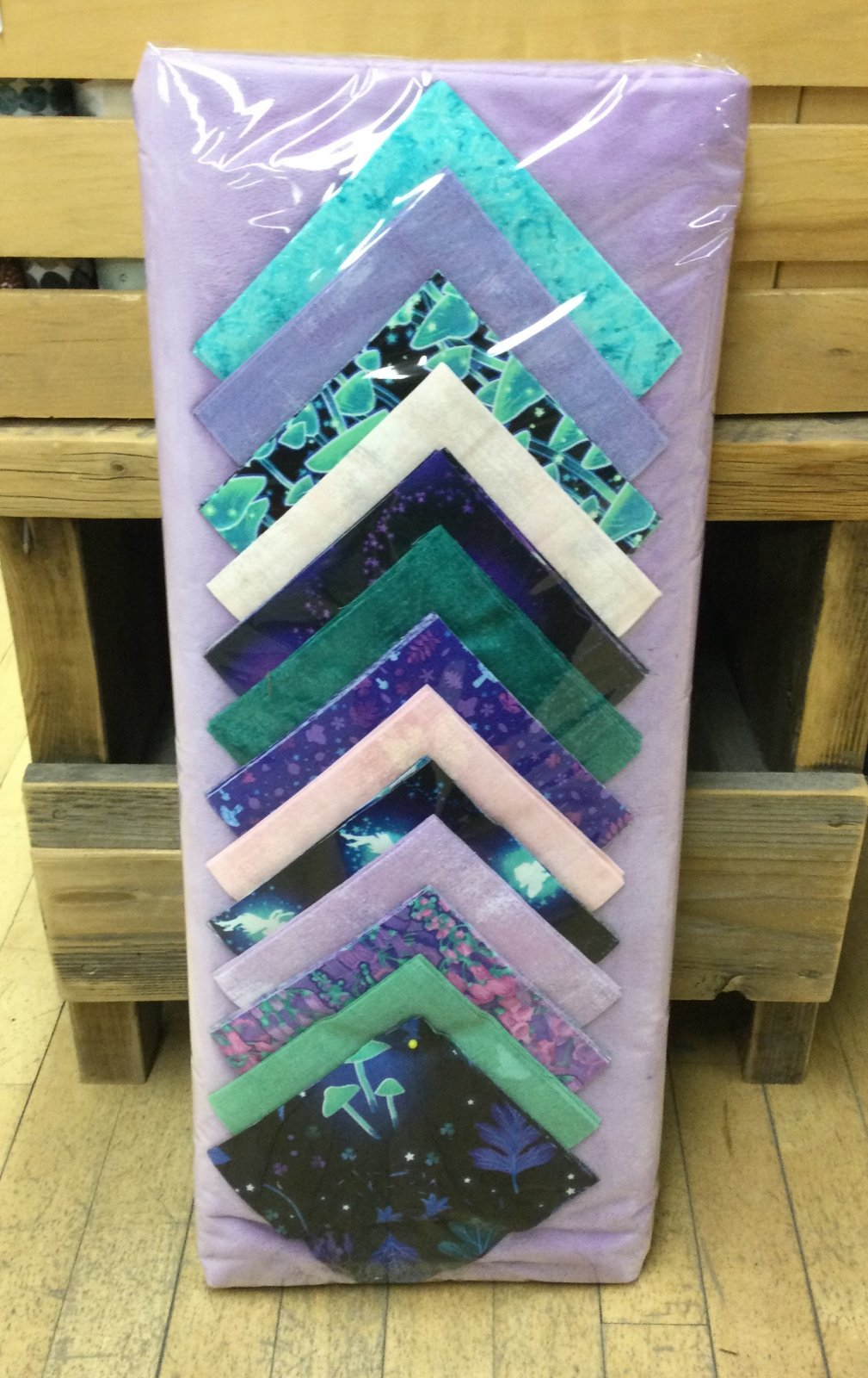 Baby Minky Quilt Kit - Fairy Grunge - Lilac