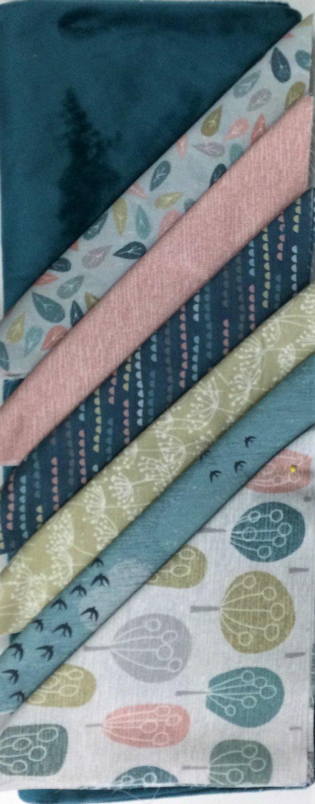 Adult Minky Quilt Kit - Elements & Breeze - Dark Teal Minky