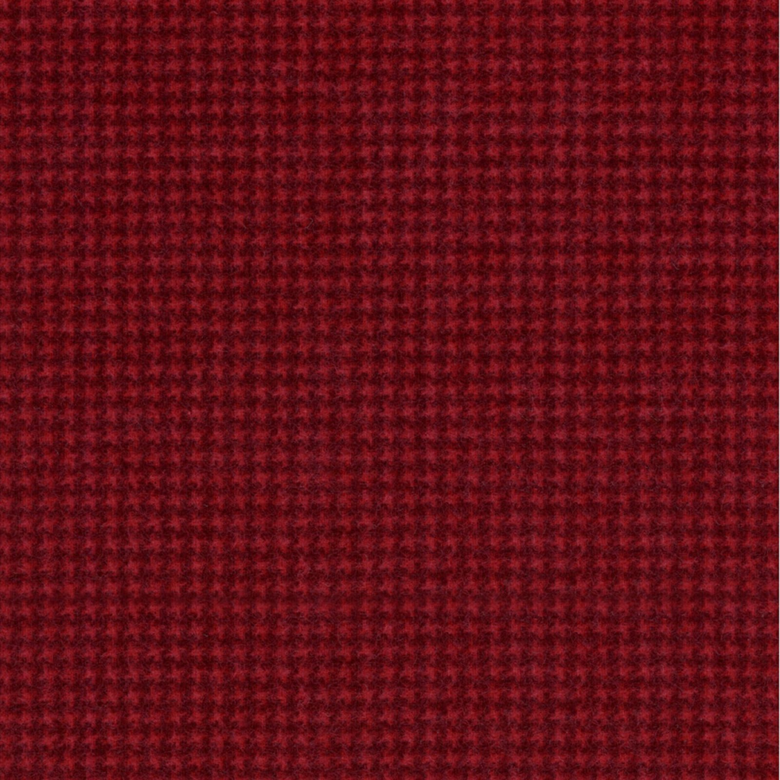 Woolies Flannel - Houndstooth - Red