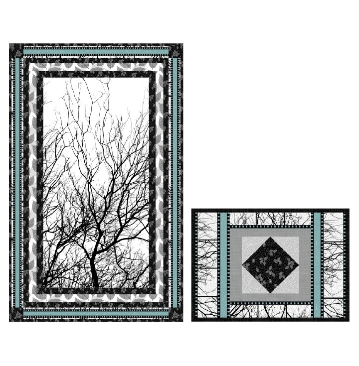 Moonlight Silhouette Wall Hanging Pattern