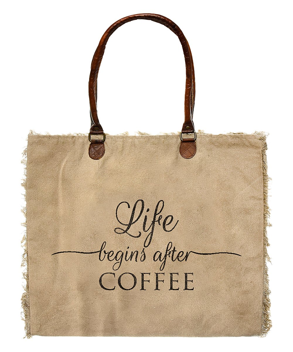 Market Tote Life Begins After Coffee