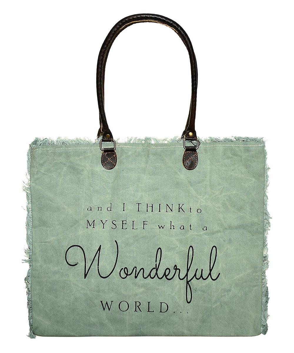 Market Tote Wonderful World (Ash Grey)