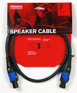 Planet Waves Custom Series SpeakOn Speaker Cable 3' Speakon Speakon Length 3' 0.9 m 3' PW-SO-03