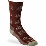 Everyday L Mens Maroon Tree Socks FF-8578-606-RCLAY-L