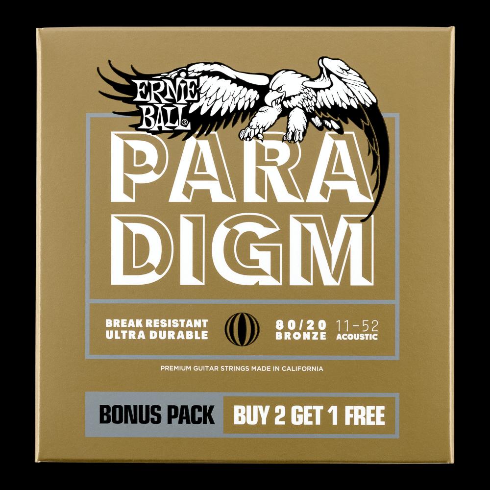 Ernie Ball 3328 3-Pack Paradigm 80/20 Bronze 11-52