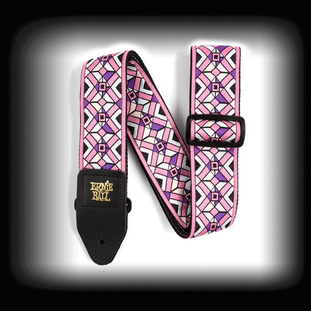 Ernie Ball Kaleidoscope Pink Jacquard Guitar Strap P04658