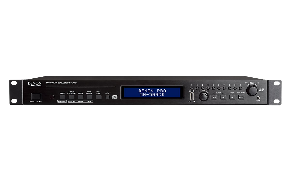 Denon DN-500CB CD/Media Player with Bluetooth/USB/Aux Inputs and RS-232c