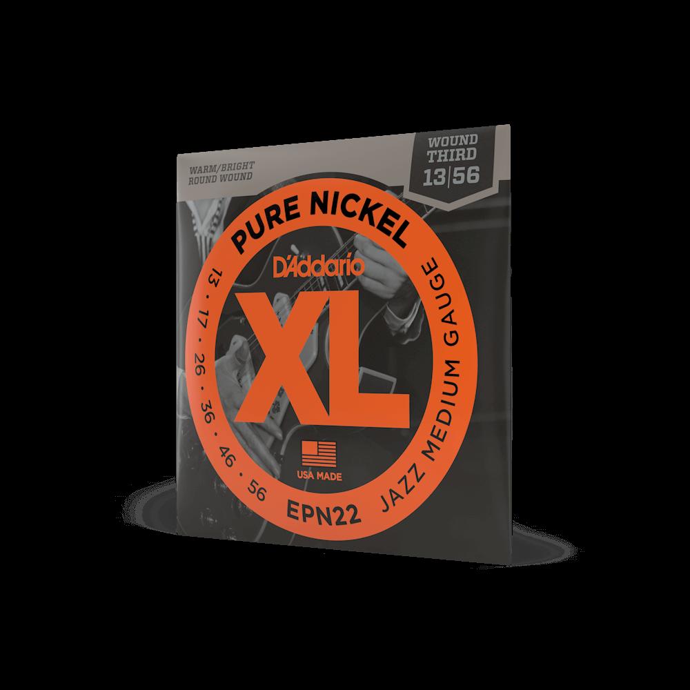 D'Addario EPN22 Pure Nickel Electric Guitar Strings Jazz Medium 13-55