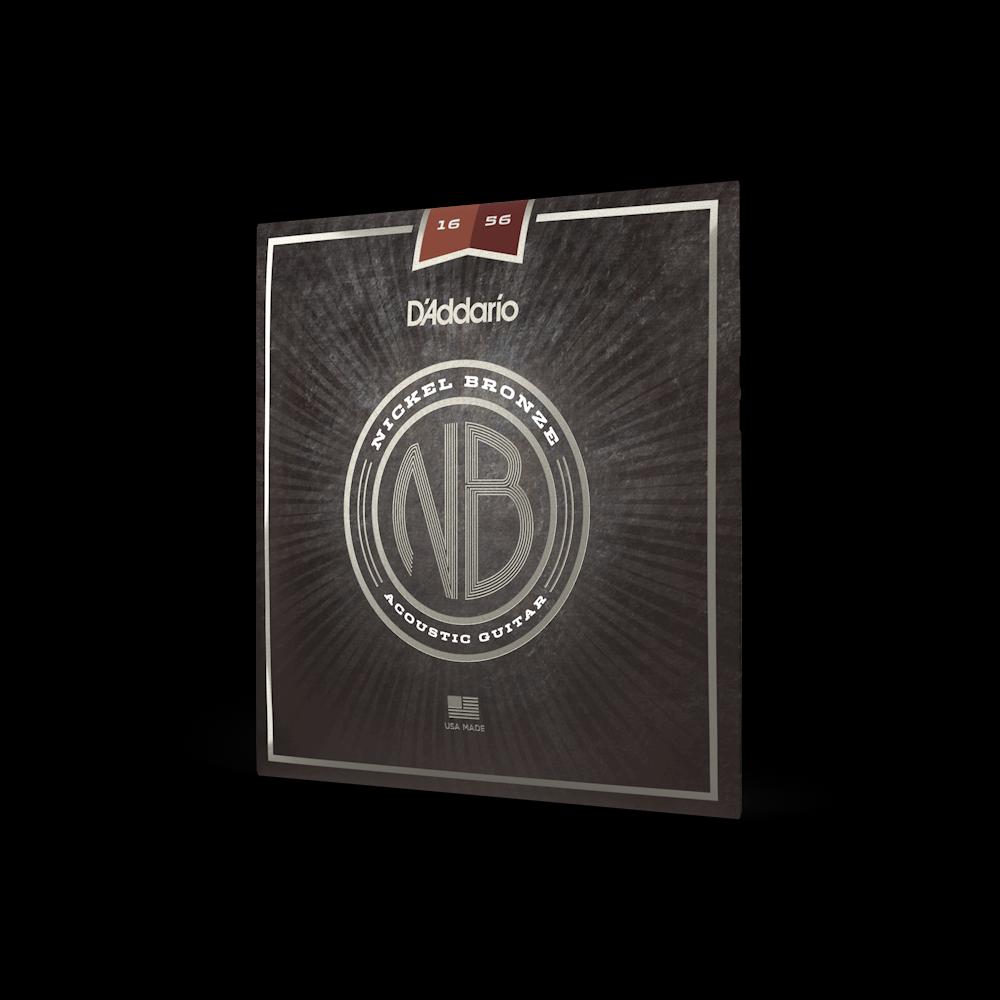 D'Addario NB1656 Set Medium Resophonic Nickel Bronze 16-56 Acoustic Guitar Strings